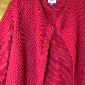 Old Navy Sweaters - Red long sweater